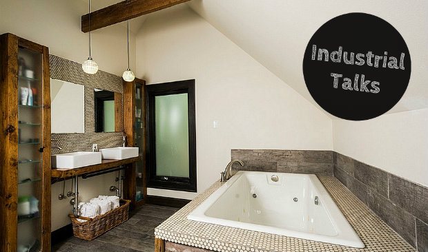 Industrial Talks How to Create an Industrial Style Bathroom FEAT