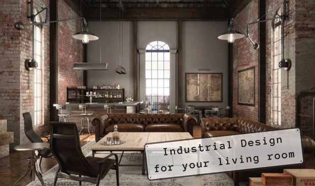 Get This Industrial Design Look For Your Living Room