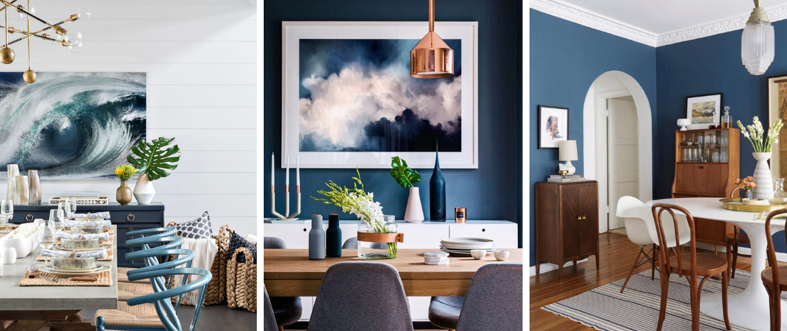 5 Blue Vintage Dining Rooms You'll Fall For!