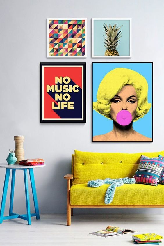 What Is Hot On Pinterest Pop Art Home Decor